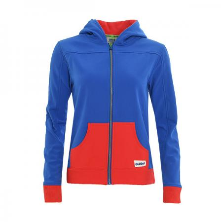 Guide Royal/Red Hooded Top